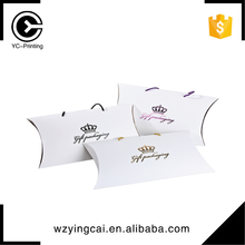 Custom printed paper t-shirt packaging sweet candy fancy design pillow boxes