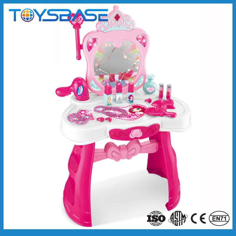 Children Beauty Set Toy Dressing Table With Music And Light Plastic Dressing Table