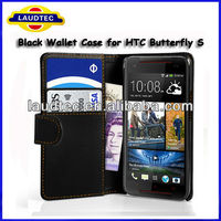 Hot selling Wallet leather flip case for HTC Butterfly S,Leather Flip Case for HTC Butterfly S,2013 New arrial----Laudtec