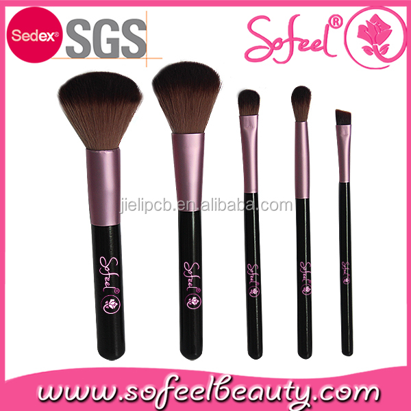 Sofeel Promotional Cosmetic Brush Sets 5pcs Best Selling Makeup Brush Kits