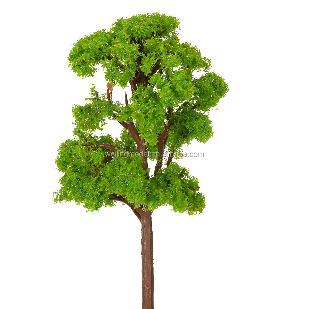 About 12 cm Height Green Banyan Tree Model Train Layout Garden Scenery Wargame Landscape Plastic Model Trees Kids Toys