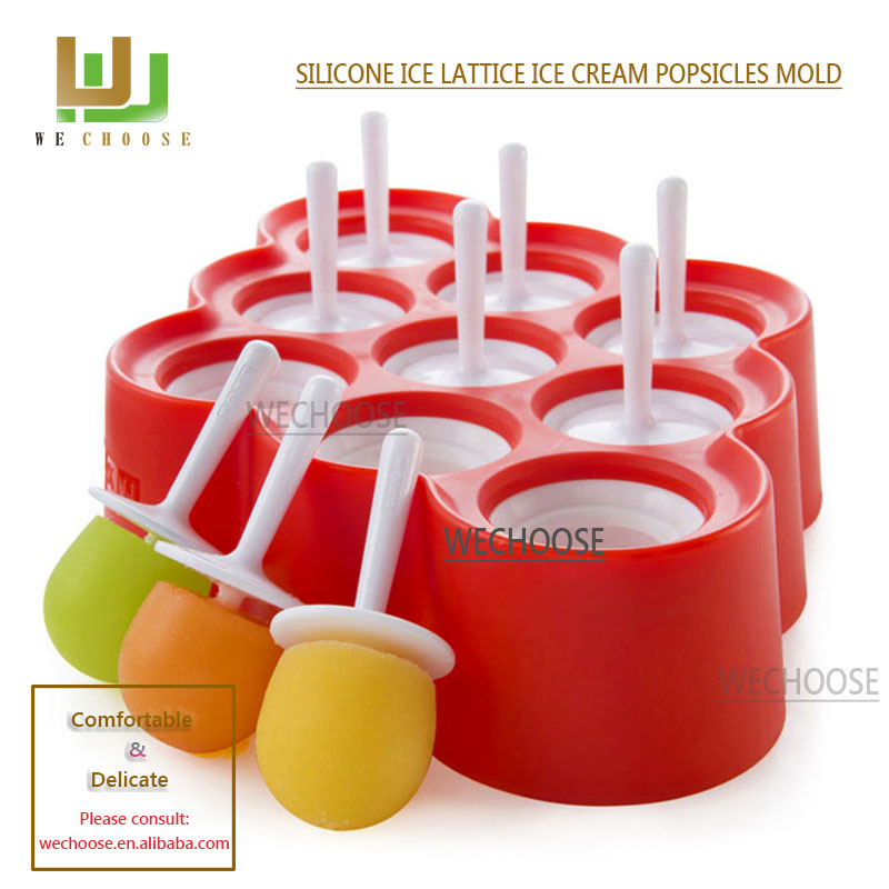 Wholesale great varieties silicone ice cream mold ice pop mold China custom Attractive and Durable silicone ice cube tray