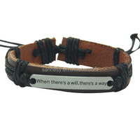 Retro Adustable Male Wide Leather Bangle