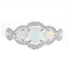 Silver Ring Opal Stone Gemstone Jewelry Rings Design With Gems