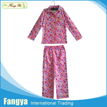 Good quality 100 cotton flannel funny kids pajamas thermal pajamas
