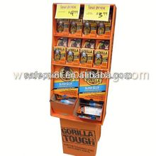 fruit candy cardboard promotional pvc display rack