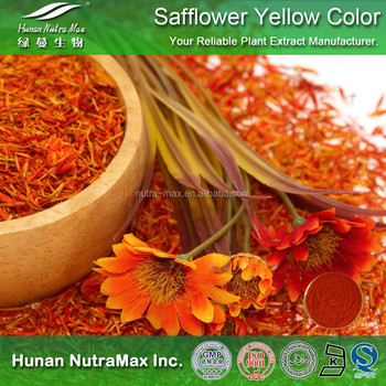 100% Natural Food Coloring Safflower Yellow Color Pigment Powder