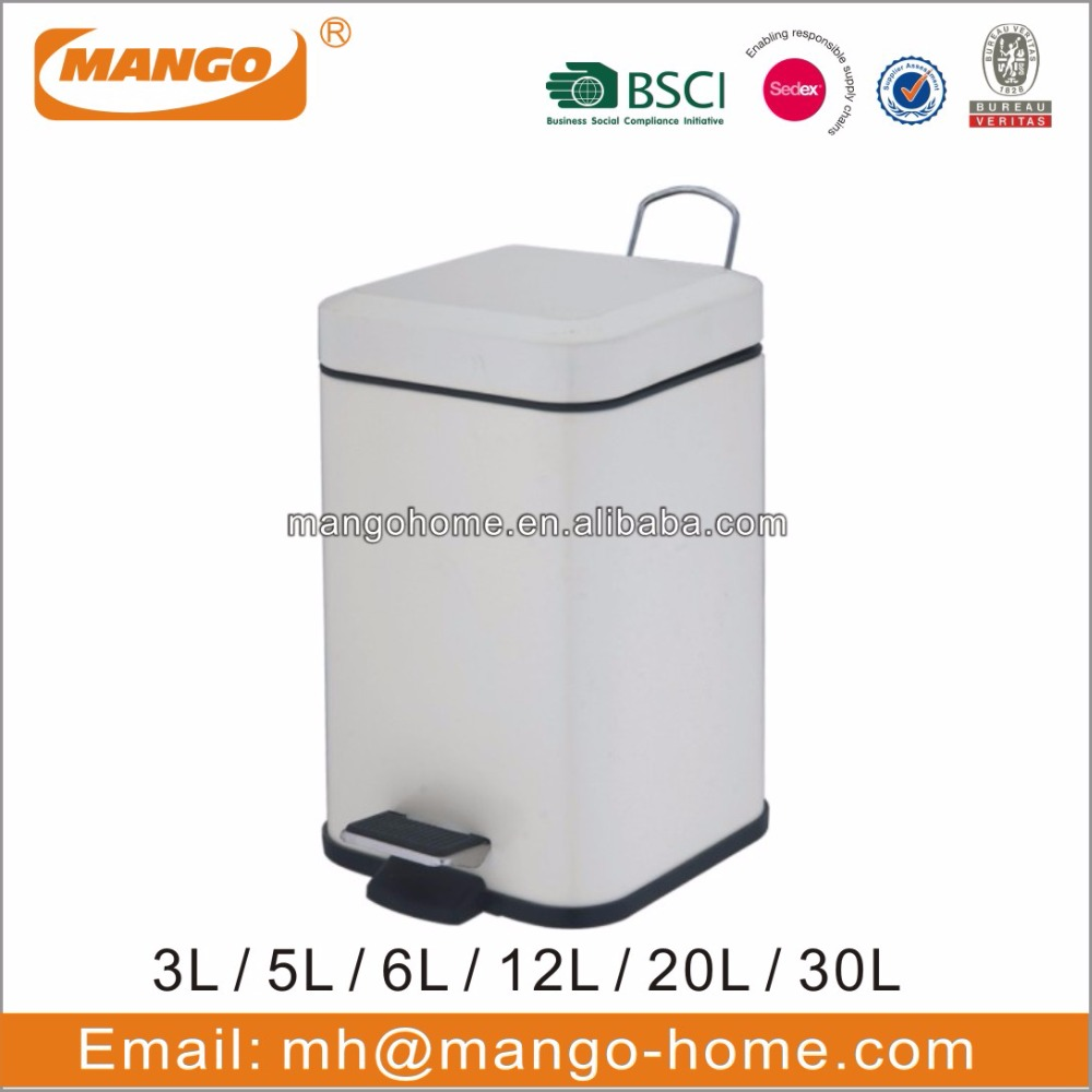 Powder Coating Square Steel Pedal dustbin