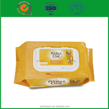 China lastest fashion pet wet wipes for cleaning eye/ear/paw/tail