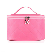 Large capacity Nylon barrel-shaped handbag travel cosmetic bag organizer