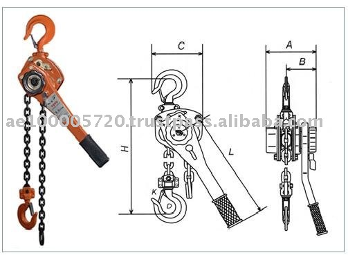 TLB type manual lever hoist hand chain hoist (0.5T to 9T)