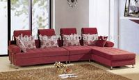 2012 New design leisure fabric sofa with best tomenta in red
