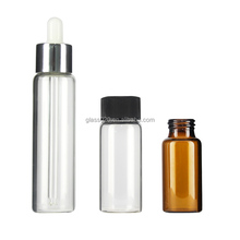 Amber pharmaceutic tubular glass vial bottle