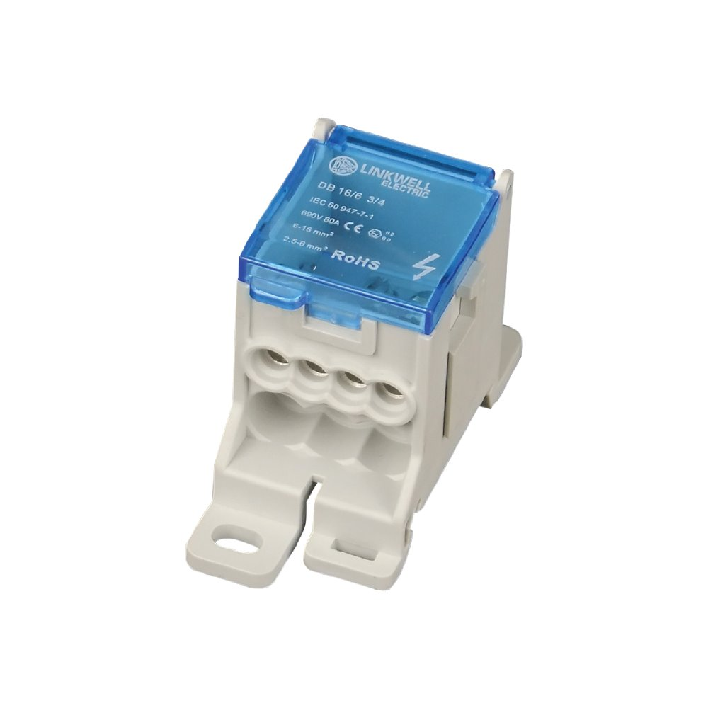 Space-saving Easy-fixing good electrical contact brass terminal block distribution boxes