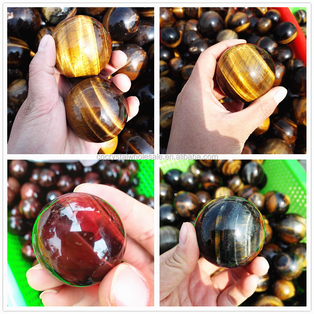 Cheap Price Natural precious tiger eye stone quartz sphere crystal balls