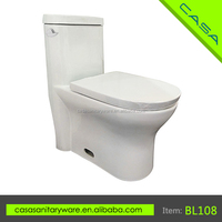 Chinese manufacturers western style modern one piece toilet closestool toilets bidet for sale BL108