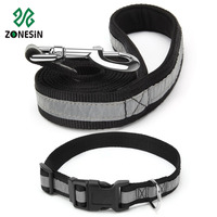 Collars & Leashes Hot Sale Reflective Soft Padded Nylon Pet Dog Collar