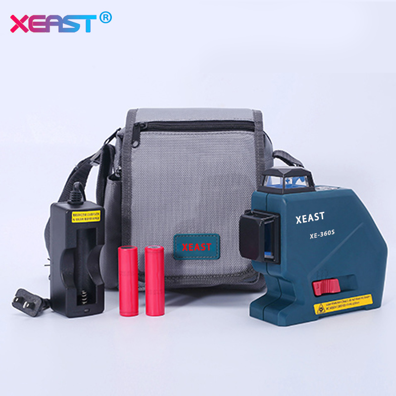 XEAST Professional 12 Lines 3D Laser Level Meter Self-Leveling 360 Vertical Horizontal with Red laser