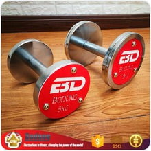 Wholesale gym equipment stainless steel Rotating dumbbell weights