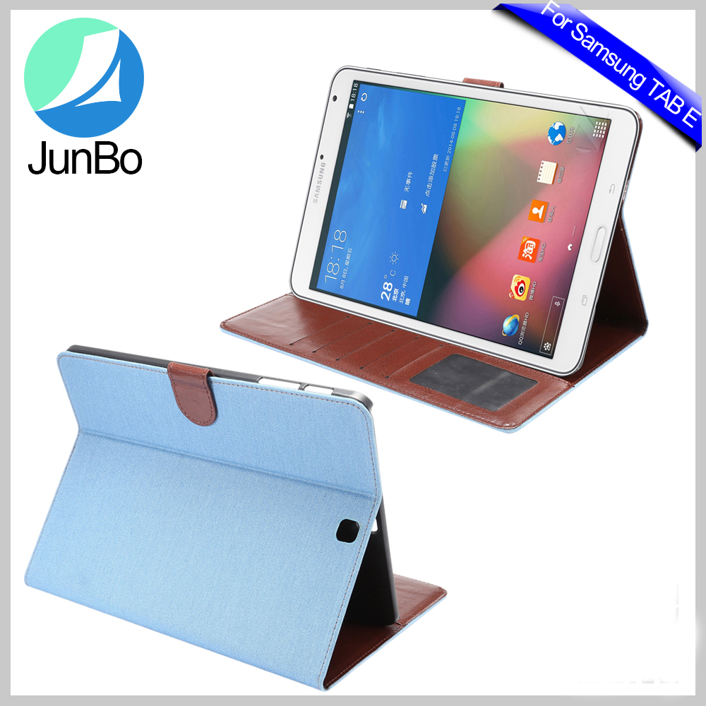 multi card slots inside stand cover for samsung galaxy tab e 9.6 t560 tablet PU case top grade leather