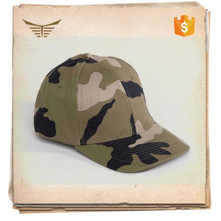 High quality 6 panel blank army military camo hat manufacturer with good quality