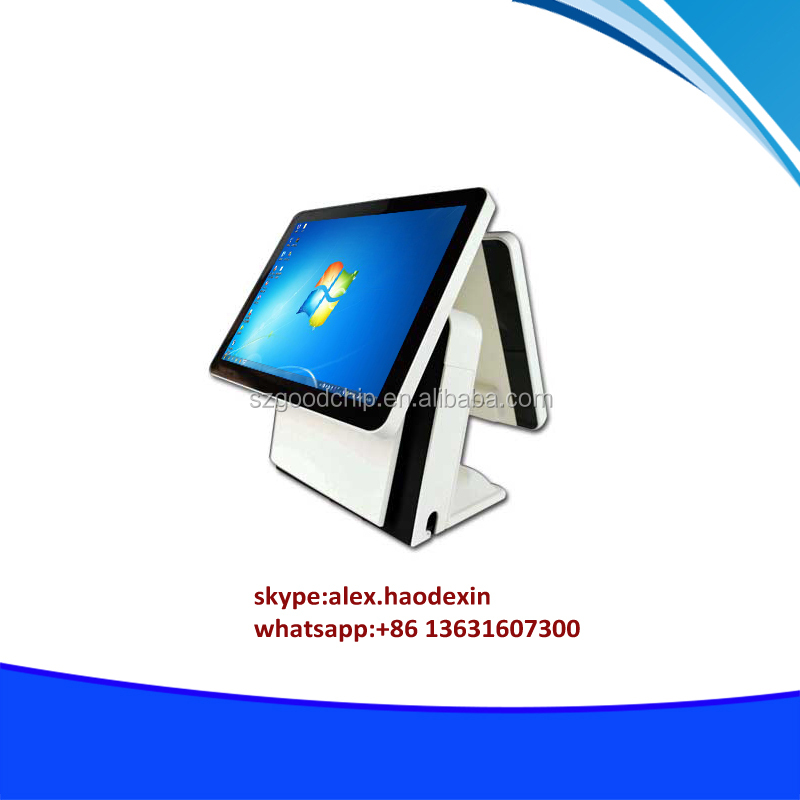 Cheap price 15.6 inch windows pos terminal dual screen touch nfc payment all in one pos terminal GC066