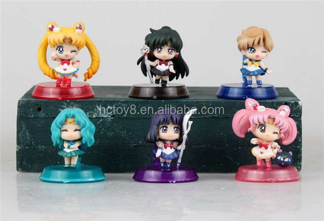 GzItf PVC 5cm Sailor Moon 6 Squinting Eyes Action Figure