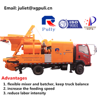 building machine truck concrete mixer pump with best price sale in Indonesia