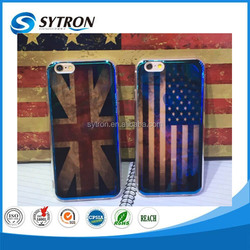 Retro UK and USA National flag PC+TPU Case for iphone 6