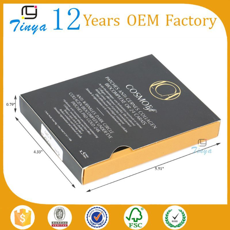 flat pack custom facial mask packaging box
