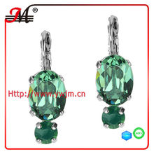ER4642 New design fashion wholesale big crystal silver bo dormeuse earring