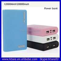 20000mah rechargeable with 2 usb power bank for iphone tablets