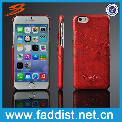 Luxury style high quality pu leather phone case for iphone6 5.5 inch