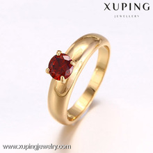 12630 Christmas gift 18k gold color new design ladies finger ring