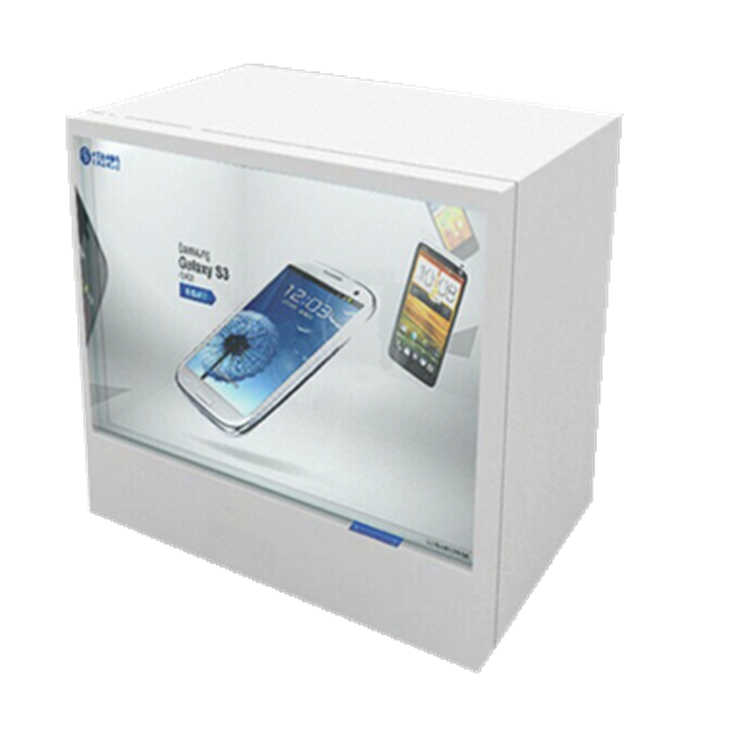 42inch Transparent LCD Display Showcase , transparent LCD display with computer board