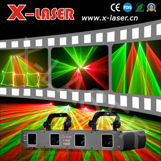 Cheap 4 heads Red&Green laser lights, professional disco dj club stage lighting, holiday party lighting