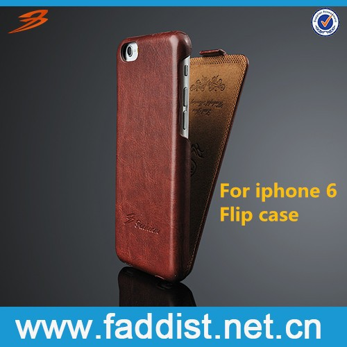 Alibaba phone case for iphone 6, PU leather flip case with nice hand feeling hot selling