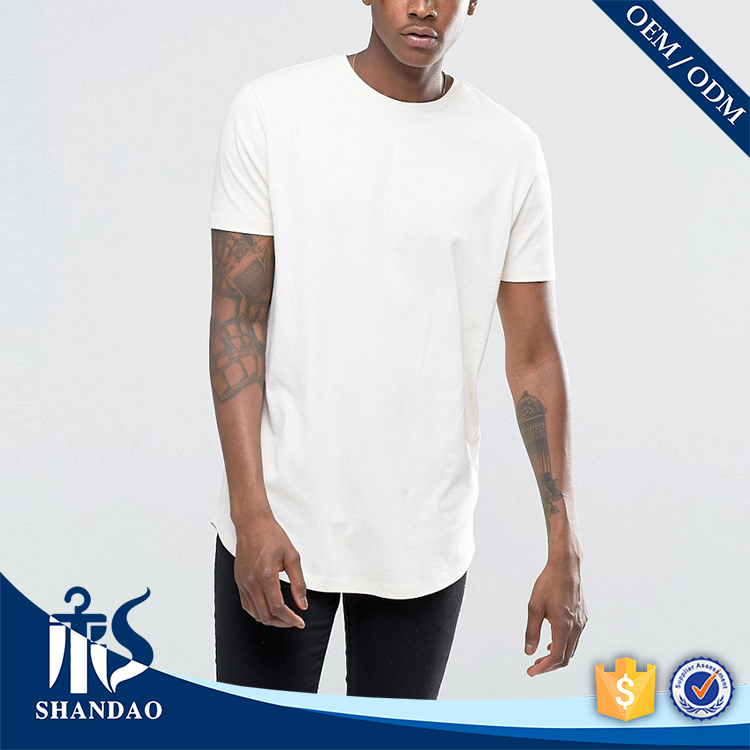 China Shandao Supplier New Casual Autumn Men Short Sleeve O-Neck 180g Cotton Polyester Blend Slim Tall T Shirt