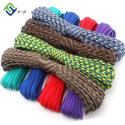Colorful braided nylon rope 550lbs paracord used for survival bracelet