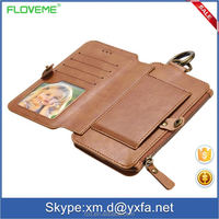 hot selling in Germany mobile phone case for Apple FLOVEME 6 6Plus detachable 2 in 1 Wallet Leather Case