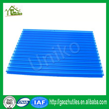 colorful excellent light transmitting triple layer polycarbonate sheet