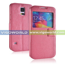 2014 new vigoworld ripple flip cover for Samsung Galaxy S5 i9600 with stand function