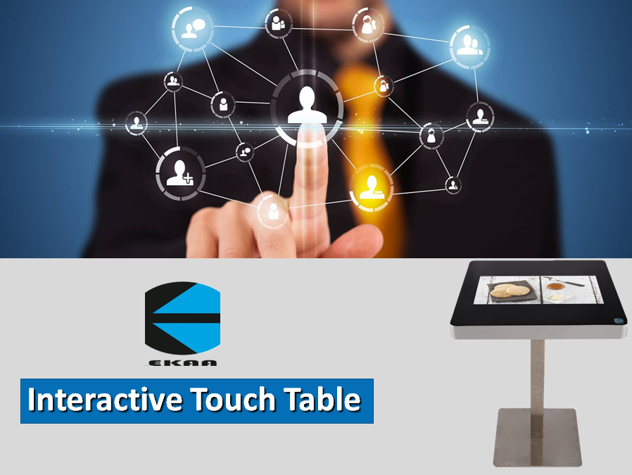 EKAA Indoor wifi waterproof capacitive touch screen HD interactive table restaurant