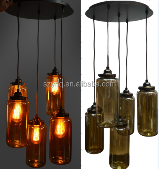 2017 modern ceiling light wooden Chandeliers & Pendant Lights illuminated Organic Glass 5 Lights Luster