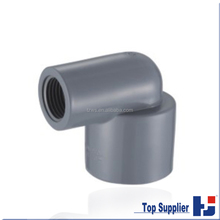 ASTM SCH80 standard cpvc pipe 90 degree reducing elbow dimensions