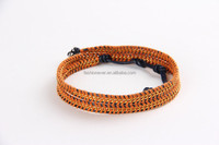 Newest Fashion Handmade Gold Plated Leather Wrap Bracelet Bangle Jewelry Design For Girls