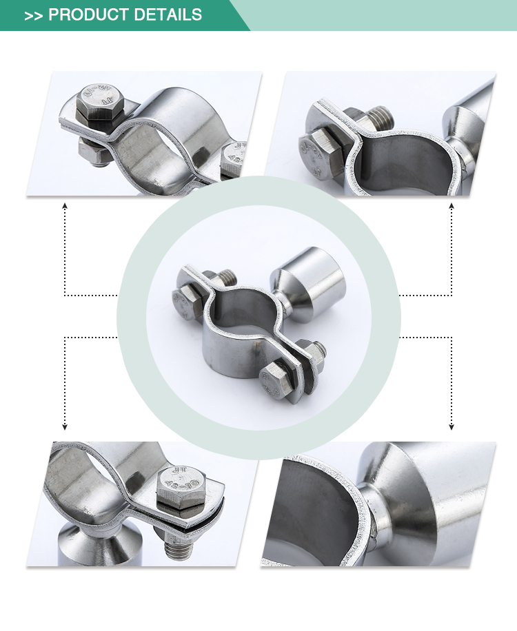 Strict framework requirements standard stainless steel sanitary pipe holder