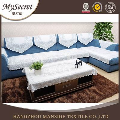 2016 Hot sale 100% polyester grey l shape sofa bed set cover
