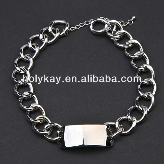 Wholesale 2013 new arrival simple design silver plated chains necklaces jewelry, fashion accessory for women