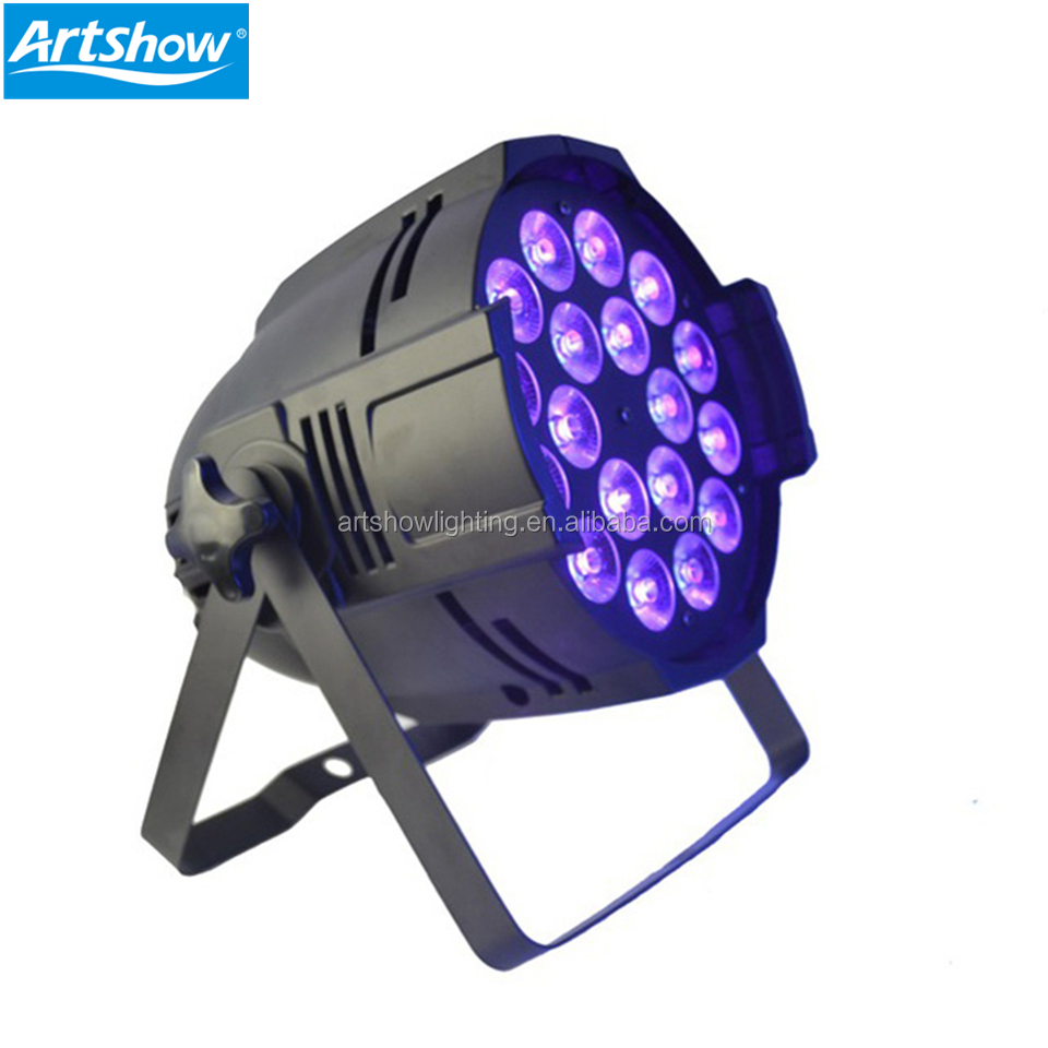 Professional 18pcs 6in1 18W LED Indoor Par Can Light Sets Stage Lighting RGBWAUV Flat Aluminum Alloy DJ Wash Par nightclub light